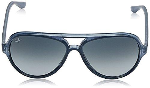 Ray-Ban Mens Cats 5000 Aviator Sunglasses, Trasparent Light Blue, 59 mm