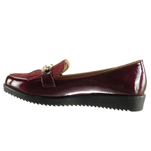 ... Angkorly - damen Schuhe Mokassin - Slip-On - Schmuck - Fransen - Patent  Keilabsatz ... 5637bcd79e