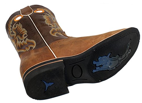 Heren Lederen Western Rodeo Cowboylaarzen Stijl Db700_tan_10.5
