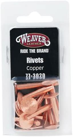 Weaver Leather 77-3020 12PC COP Rivet /& Burr