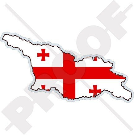 Georgia Flag Stickers (GEORGIA Georgian Map-Flag 4.7