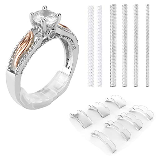 (Coopache Invisible Ring Size Adjuster 2 Styles for Loose Rings - Ring Guard, Ring Sizer, 13 Sizes Fit Almost Any Ring)