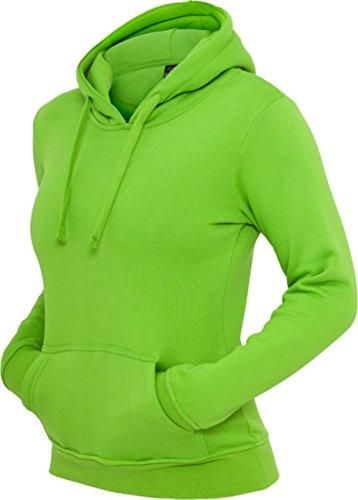 Urban classics pull à capuche pour femme coupe regular fit tB222 -  Vert - Medium