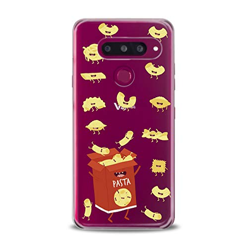 Lex Altern LG TPU Case Stylo 4 K11 G7 ThinQ G6 V40 V35 Plus V20 Q8 K8 Clear Cute Pasts Box Red Hungry Yellow Funny Macaroni Silicone Cover Protective Flexible -