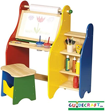 Guidecraft Art Activity Desk Amazon Co Uk Kitchen Home