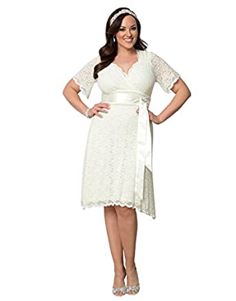 Kiyonna Womens Plus Size Lace Confections Wedding Dress At Amazon