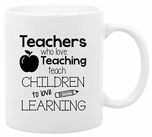 The Coffee Corner - Teachers Who Love Teaching - 11 Ounce White Ceramic Coffee or Tea Mug - Teacher Coffee Cup - Gift for Teacher - Teacher (Halloween Sunday School Lessons)