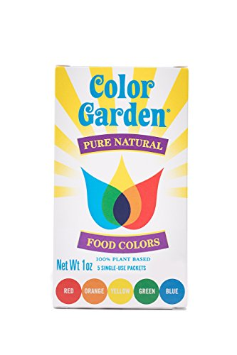 Color Garden Pure Natural Food Colors, Multi Pack 5 ct by COLOR GARDEN