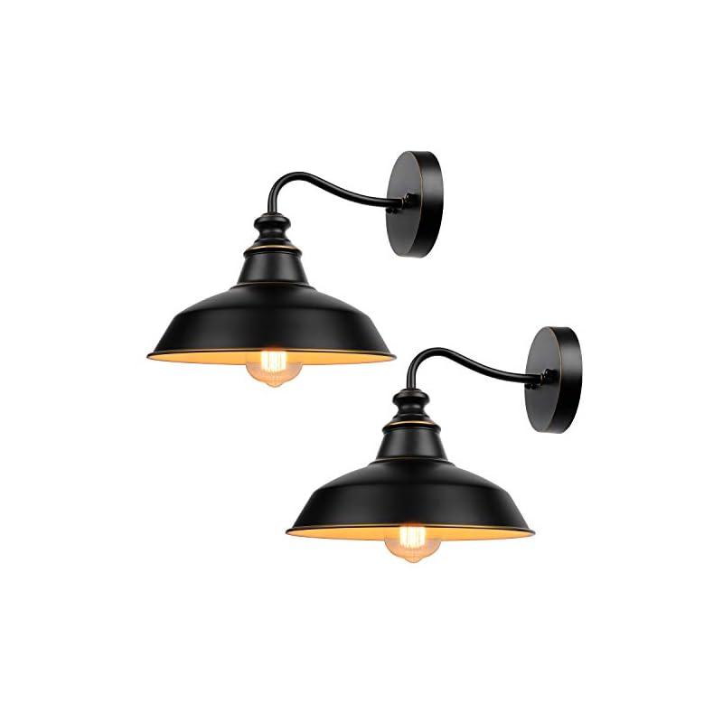 Gooseneck Wall Sconces Lighting, Vintage Industrial Indoor and Outdoor Light Fixture, Wall Mount Lamp Fixtures for…