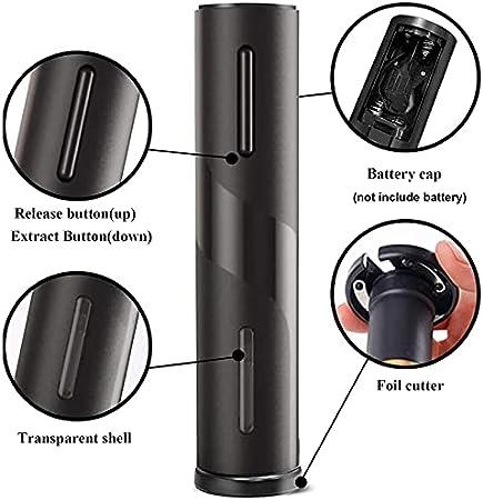 Sacacorchos eléctrico, juego de abridor de botellas eléctrico, incluye abridor automático, tapas al vacío, cortador de película
