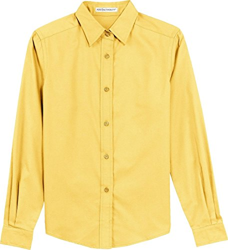 Port Authority Ladies Long Sleeve Easy Care Shirt, Yellow, M