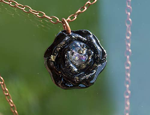 Orgonite Pendant Rainbow Moonstone, Black Tourmaline, Elite Shungite - Orgone Necklace
