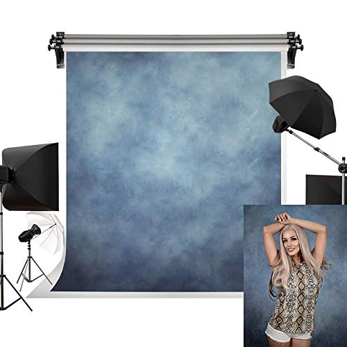 Kate 5x7ft/1.5m(W) x2.2m(H) Blue Background Portrait Photography Abstract Texture Backdrop Photography Studio Props Photographer Kids Children (Photographer Background)
