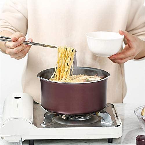 N / A Petit Pot de Lait antiadhésif pour bébé, Pot de Nouilles instantanées, Mini Petit Pot épaissi, Pot de complément Alimentaire pour bébé, Belle atmosphère, Pot Polyvalent