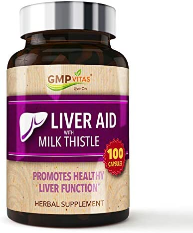 GMPVitas Premium Liver Support with Milk Thistle Supplements- Milk Thistle,Vitamin C B – Support Liver Health Function 100 Capsules 1