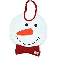 Zigozago - Baby Bib SNOWMAN - Tie: Elastic - One Size