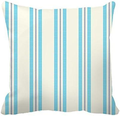 Pingrog Fundas De Almohada De Algodón Casual Chic Gris Y Azul con Rayas Blancas Funda De Almohada Decorativa Cuadrada 45,7 X 45,7 Cm (Color : Colour, Size : Size): Amazon.es: Hogar