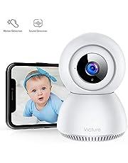 Victure 1080P Cámara IP WiFi Cámara de Vigilancia con Detección de Sonido y Seguimiento de Movimiento Camara vigilancia Solo Compatible con 2.4GHZ (Blanco)