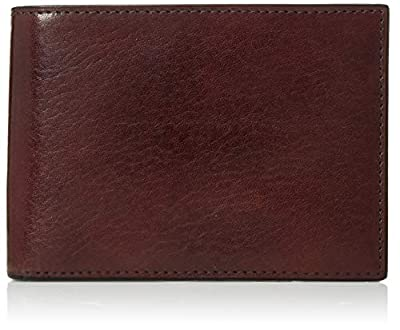 Bosca Men's Old Leather Credit Wallet with I.D. Passcase Billfolds,Dark Brown