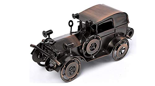 ESSEXX COLLECTION Antique Vintage Car Model Handcrafted Collections Collectible Vehicle Toys for Bar or Home Decor Decoration Great Birthday Gift Bronze Classic Car Model, Large (Bronze, Large)