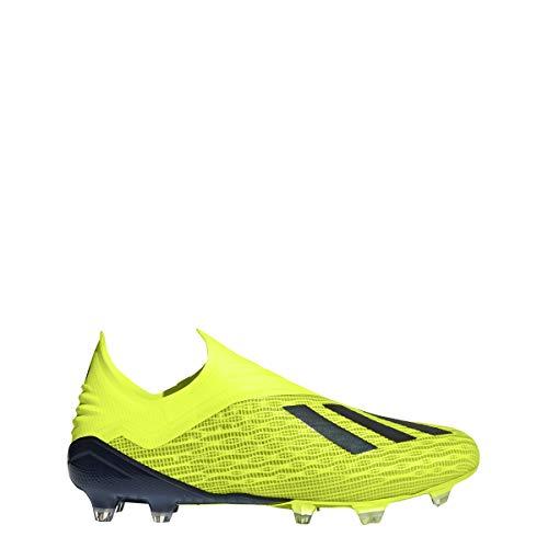 adidas Men's X 18+ FG Soccer Cleats (13, Yellow/Black)