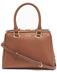 Marybelle Saffiano Leather Top Zip Satchel