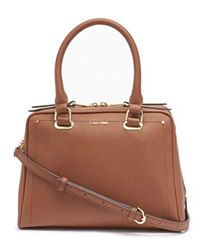 Calvin Klein Marybelle Saffiano Leather Top Zip Satchel, Luggage