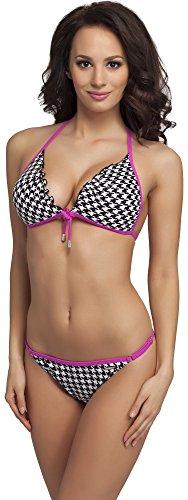 Aquarilla Donna Bikini Completo Rosa nero 941 FwBFqr4Ux