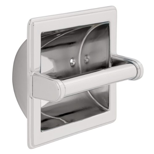Franklin Brass 9097PC Recessed Paper Holder with Beveled Edges (Brass Toilet Paper Roll Holder)