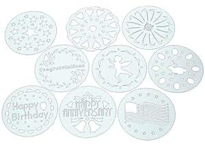 Kaiser Bakeware Patisserie Cake Stencils, 10-Piece Set