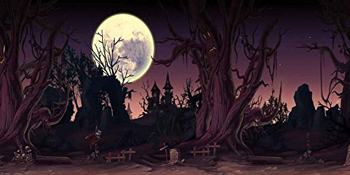 GladsBuy Thriller Night 20' x 10' Computer Printed Photography Backdrop Halloween Theme Background -
