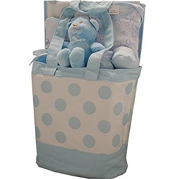 9 Stuck Luxus Tasche Baby Geschenk Set Blau Boy 0 3 Monate