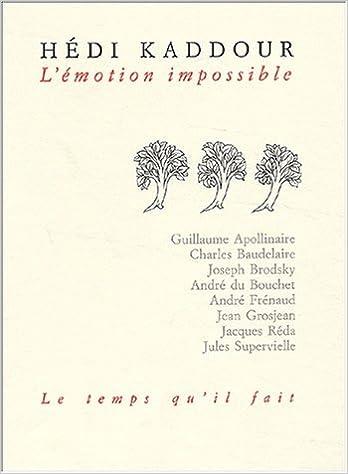 Livre gratuits en ligne L'Emotion impossible epub pdf
