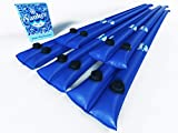 10' Pool Cover Water Weight Tubes (5 Pack) Dual Chamber for In-Ground Swimming Pools ~ Extra Wide Screw ON Valve ~ Extra Thick PVC, Ultra Strong & Airtight to Last All Season. Pool Closing Equipment.