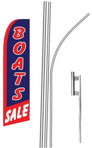 (5) five BOAT SALE drkbl/red 15' Swooper #4 Feather Flags KIT
