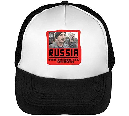 Beisbol Snapback Blanco Drinking Russia Negro Gorras Hombre pawtzxIq