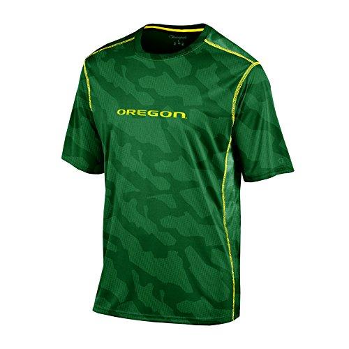 Champion NCAA Oregon Ducks Boys Short Sleeve Color Blocked Crew Neck T-Shirt, Medium, Green ()