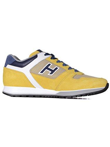 HOGAN HOMME HXM3210Y110FXO963R JAUNE CUIR BASKETS