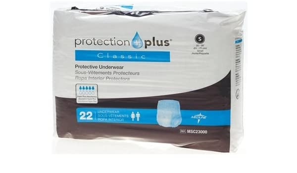 Amazon.com: Medline MSC23000 Protection Plus Classic Protective Underwear: Health & Personal Care