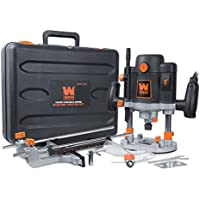 WEN 15-Amp Variable Speed Plunge Woodworking Router Kit with Carrying Case and Edge Guide