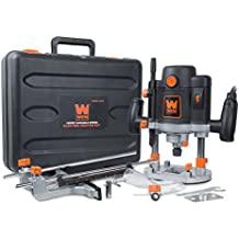 WEN 6033 15-Amp Variable Speed Plunge Woodworking Router Kit with Carrying Case & Edge Guide