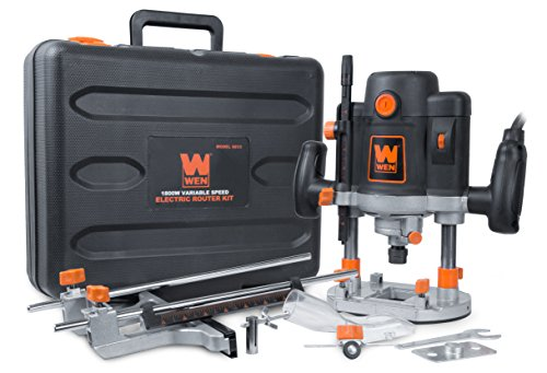 - WEN 6033 15-Amp Variable Speed Plunge Woodworking Router Kit with Carrying Case & Edge Guide