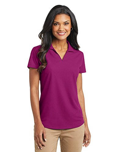 Port Authority Ladies Dry Zone Grid Polo, Magenta, - Womens Top Polo