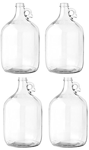 AGC OC-EP2C-0K74-MP-4 Glass Jug, 1 gal (Pack of - Iv Glasses