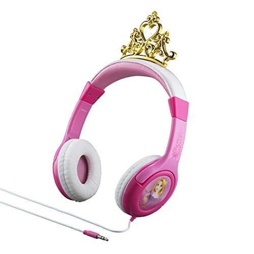 Disney Princess Kid Friendly Headphones with built in volume limiting feature for safe ()