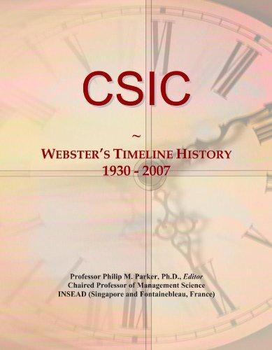 CSIC: Webster's Timeline History, 1930 - 2007