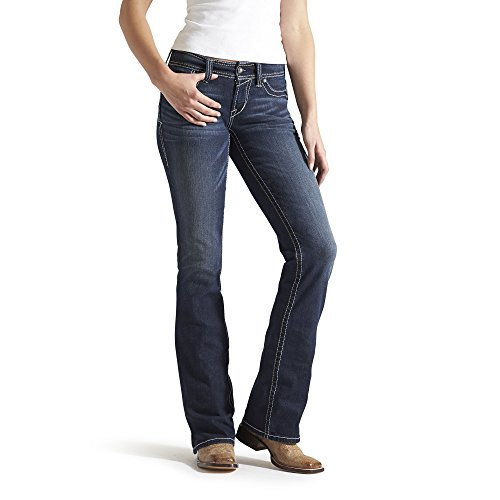 Ariat Women's R.E.A.L. Riding Mid Rise Boot Cut Jean, Ocean, 32 Regular