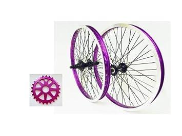 MICRO 48 radios ruedas para bicicleta BMX + disco duro de 25 unvicies compatible con Shimano