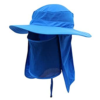 Home prefer men 39 s sun hat mesh bucket hat detachable neck for Home prefer hats