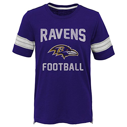 - Outerstuff NFL NFL Baltimore Ravens Kids Prestige Short Sleeve Crew Neck Tee Ravens Purple, Kids Medium(5-6)